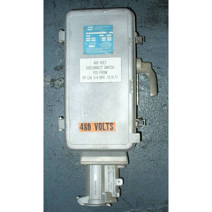 Crouse-Hinds 60 Amp WSR63542 Non-Fusible Interlocked Arktite Receptacle