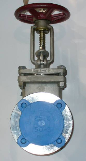 Click to see larger image - Ladish 3 inch, 150 PSI, 316 Stainless Steel, Flanged Gate Valve