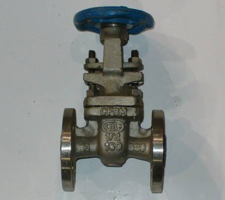 Click to see larger image - OIC 1/2 inch, 150 PSI, 316 Stainless Steel, Flanged Gate Valve