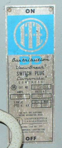 Click to see larger image - Bustribution 100 Amp ITE Bus Plug