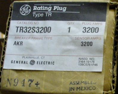 General Electric RMS-9 circuit breaker TR32S3200 Rating Plug