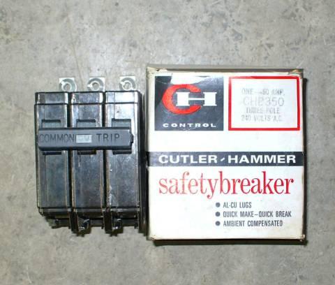 Cutler-Hammer 50 Amp CHB350 Bolt-on Circuit Breaker