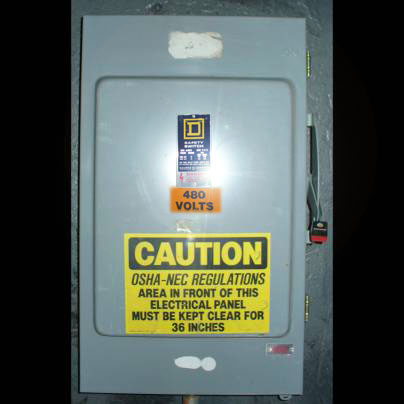 Click to see larger image - Square D 200 Amp H364NAWK Fusible Safety Switch