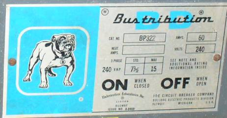 Click to see larger image - Bulldog 60 Amp Bustribution Fusible Bus Plug BP-322