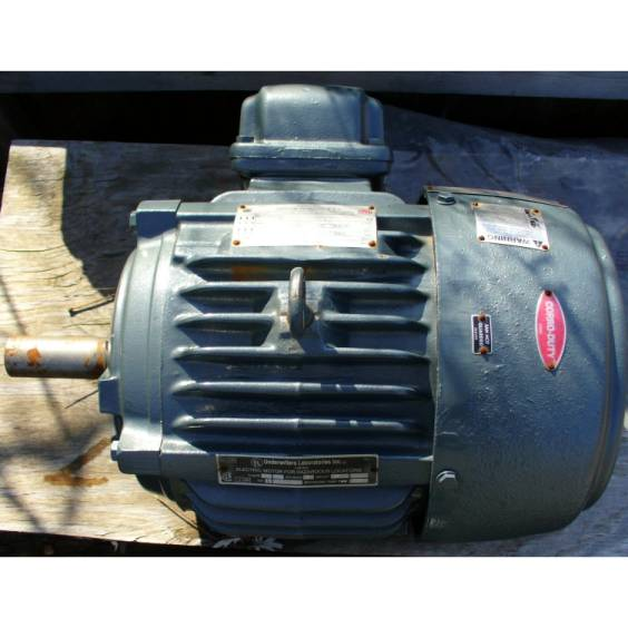 Click to see larger image - US Electrical Motors 7.5 HP 1740 RPM AC Induction Motor