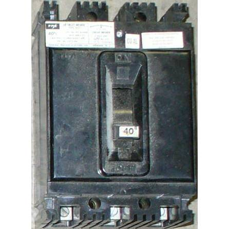 Federal Pacific 40 Amp 480 VAC Molded Case Circuit Breaker NEF433040