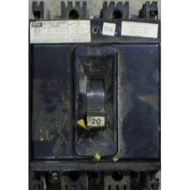 Federal Pacific 20 Amp 480 VAC Molded Case Circuit Breaker NEF433020