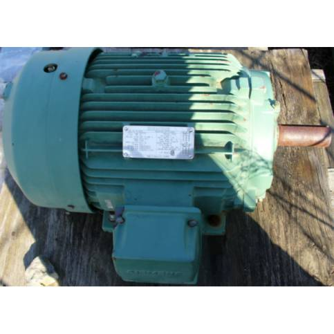 Click to see larger image - Siemens 15 HP 1760 RPM AC Induction Motor