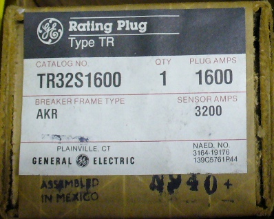 General Electric RMS-9 circuit breaker TR32S1600 Rating Plug