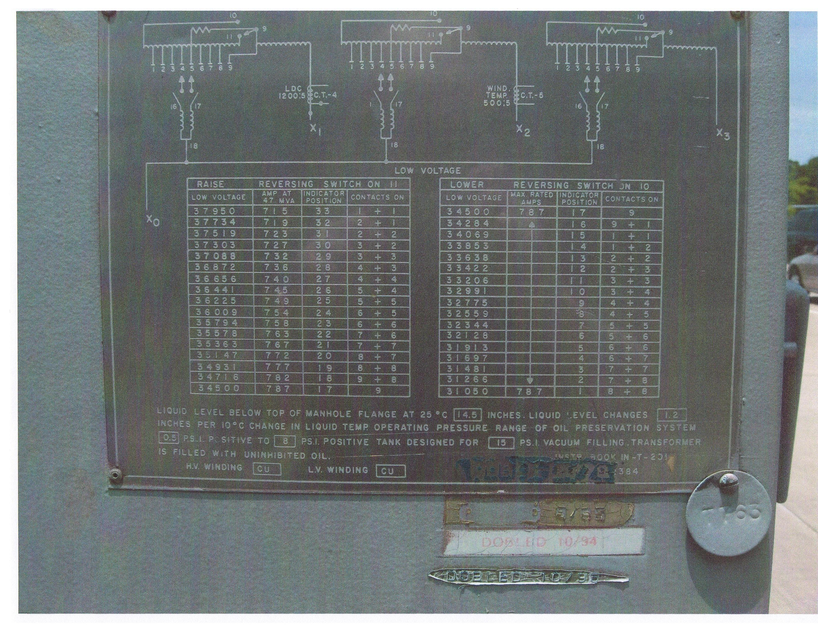 Electrical Surplus Equipment Power Transformer Circuit