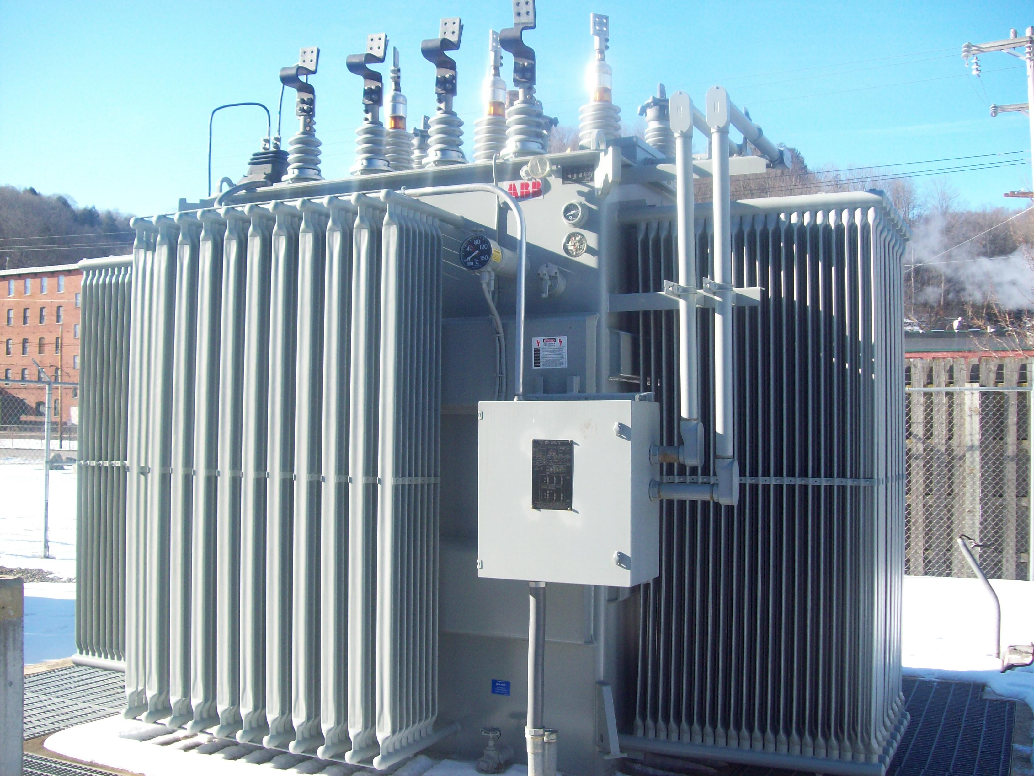 Click to see larger image - ABB Small Power Transformer 7500 / 8400 KVA - ABB Substation Transformer, Mfd  2007