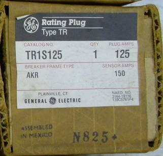 General Electric RMS-9 circuit breaker TR1S125 Rating Plug