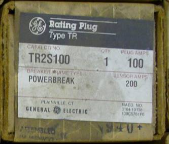 General Electric RMS-9 circuit breaker TR2S100 Rating Plug