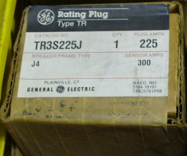 General Electric RMS-9 circuit breaker TR3S225J Rating Plug