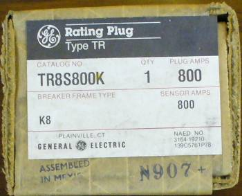 General Electric RMS-9 circuit breaker TR8S800K Rating Plug