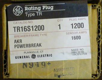 Click to see larger image - General Electric RMS-9 circuit breaker TR16S1200 Rating Plug