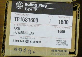 General Electric RMS-9 circuit breaker TR16S1600 Rating Plug