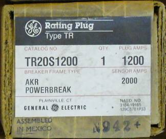 Click to see larger image - General Electric RMS-9 circuit breaker TR20S1200 Rating Plug