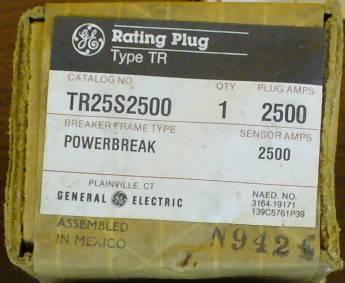 General Electric RMS-9 circuit breaker TR25S2500 Rating Plug