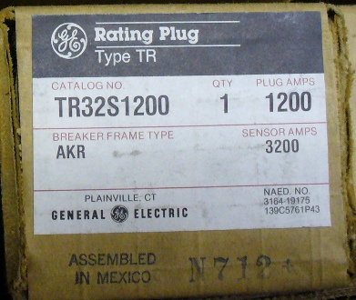 General Electric RMS-9 circuit breaker TR32S1200 Rating Plug