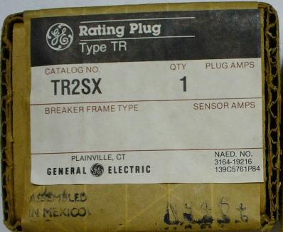 General Electric RMS-9 circuit breaker TR2SX Rating Plug