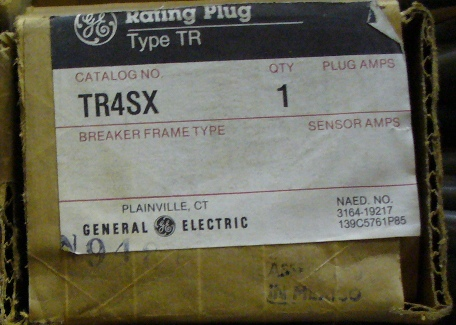 General Electric RMS-9 circuit breaker TR4SX Rating Plug