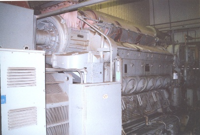 General Motors-Power Systems EMD 12-645E4B, 1600KW 480VAC, 900 RPM Diesel Engine-Generator