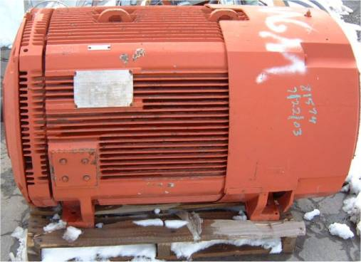 450hp 1190rpm life line d type lac westinghouse ac for 450 hp electric motor