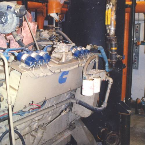 Click to see larger image - Cummins / Sentinel 462HP Natural Gas Engine and 330KW Brushless AC Packaged Generator