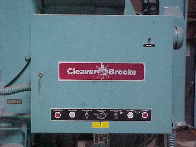 Click to see larger image - Cleaver-Brooks 4-pass Skid Mounted Firetube Dual Fuel Boiler